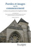 PAROLES ET IMAGES SUR LE COMMENCEMENT - Xavier-Laurent Salvador, Jeanette Patterson